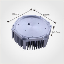 High quality precision CNC machined Aluminum Sunflower heat sink for LED light