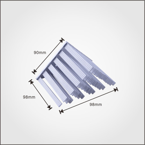 Factory price pure aluminum silver color cold forging heatsink for led lamp