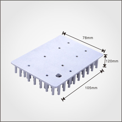 Good quality 30 watt led heatsink square shape cold forgin pin fin heatsink
