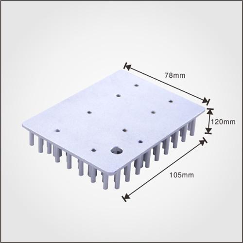 Good quality 30 watt led heatsink square shape cold forgin pin fin heatsink