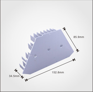 Aluminum 1070 cold forging led heat sink for led light in China