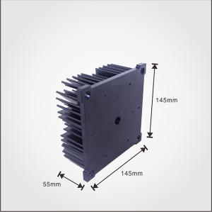 Good Quality 200 watt cold forging aluminum pin fin heatsink with silver anodized