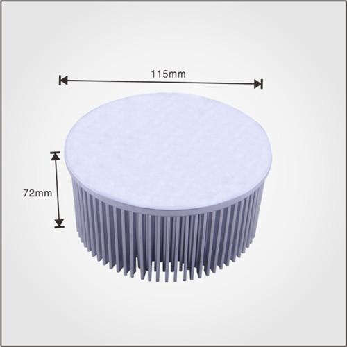 Aluminum cold forging processing radiators made of AL1070 material pin fin heatsink