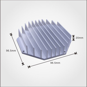 Factory manufacturing best price wholesale aluminum product extruded profile heatsink
