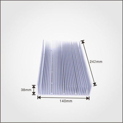 6000 series T-profile custom extruded heat sink aluminum extrusion heat sink
