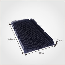 Al6063 extruded aluminum extrusion profile led heat sink