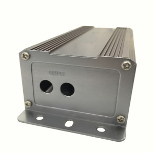 Aluminum Extrusion waterproof amplifier enclosure for electronics heatsink case