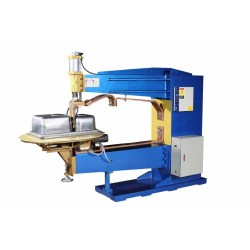 Rolling seam welding machine for sink production