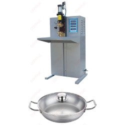 China high quality stainless steel cookware, non-stick cookware capacitor discharge projection welding machine