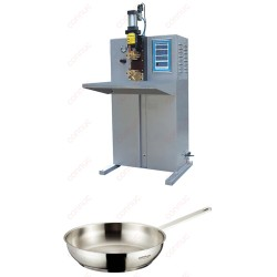 Projection capacitor discharge welder for stainless steel and aluminum cookware handle welding