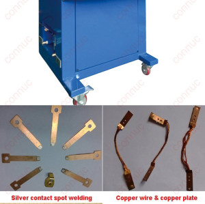 China intermediate frequency inverter welding machine for copper silver contact spot welding