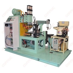 Intermediate frequency 6 stations automatic rotary nut welding machine from China