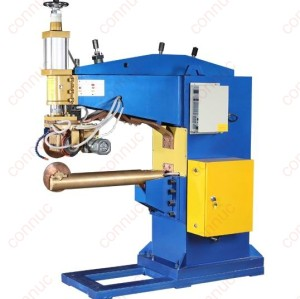 Vertical long arm resistance seam welder for water tank body