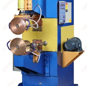 Horizontal resistance seam welder for top & bottom cover of water tank