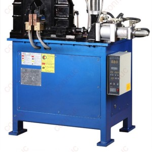 Steel bar resistance flash butt welding machine produced in china.