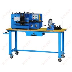Hand operated band saw blade flash butt welding machine.