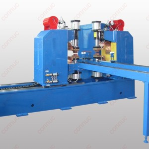 MD-2x40 heat radiator middle frequency lap joint welding machine
