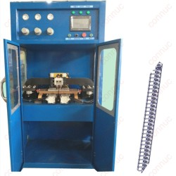 Connecting terminal welding by  specially designed medium frequency spot welding machine.