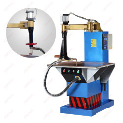 Resistance table spot welding machine for metal cabinet welding
