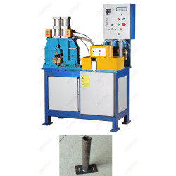 Steel tube T joint with steel plate AC resistance flash butt welding machine.