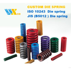 Compression spiral and flat machinery die springs