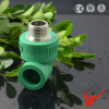 PPR Plastic Fittings PPR Male Threaded Elbow/ Hot Sale CE Certificate Plastic Plastic Manufacturers PPR 90 Degree Male Elbow