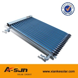 A-SUN Solar Keymark Heat Pipe Solar Collector With 15/20/25/30 Tubes