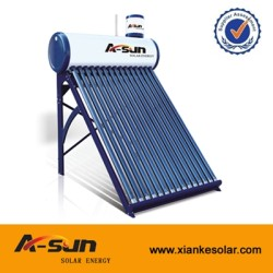 A-SUN 20/24/30 Tubes Pressure Solar Water Heater With Double-tank