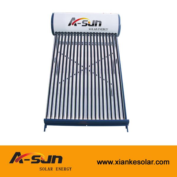A-SUN 15/18/20/24/30/34/36 Tubes Non-pressure solar water heater