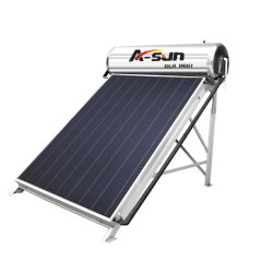 A-SUN Flat Plate Rooftop Electrical Heating Element Solar Water Heater