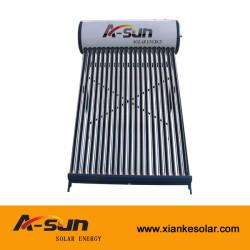 Sistema de calentador de agua solar de acero inoxidable pre-calentado sin presurizar