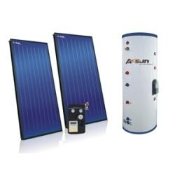 Placa plana Split y presión calentador de agua solar