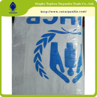 Hot sale laminated PE tarpaulin United Nations TOP165