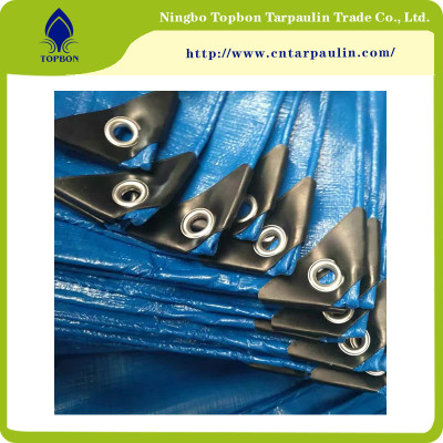 Good quality waterproof plastic tarpaulin sheet/woven fabric pe tarpaulin TOP148