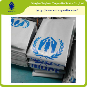 Professional Recreation Equipment pe fine waterproofness Tarpaulin United Nations TOP135