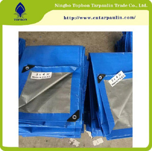 Hot Sale Waterproof Reinforced Readymade 6X12 PE Tarpaulin TB2227