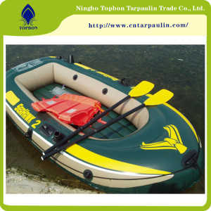 High Quality Inflatable Plastic PVC Boat Fabric TOP009