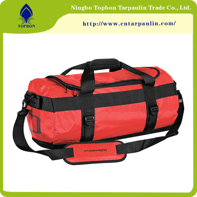 100% Polyester PVC tarpaulin for waterproof sprot bag TOP021