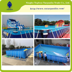 Hot selling laminated high quality pvc tarpaulin for swimming pool  TOP040