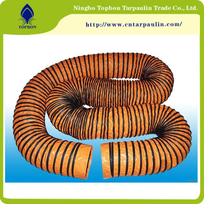 100% Polyester Woven PVC Coated Fabric for Ventilation Duct TOP053