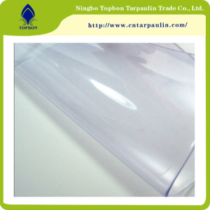 China Soft PVC Roll Super Clear Transparent Plastic Film TOP888