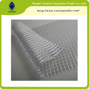 China Supplier High Tensile Durable Wear-resisting PVC Clear Mesh Tarpaulin TOP889