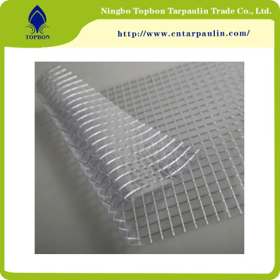China Supplier High Tensile Durable Wear-resisting PVC Clear Mesh Tarpaulin TOP889