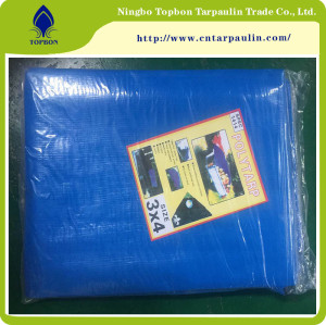 Reinforced flexible tarpaulins with band for temporary tents
