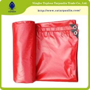 600GSM Red Virgin Tarpaulin PVC Waterproof Cover Tent Tarpaulin