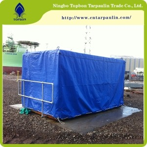 19oz White Heavy Duty Tarpaulin Covers PVC Coated Fabric for Truck