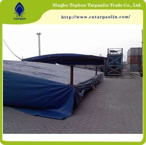 Factory Virgin Tarpaulin 610GSM Blue Cheap Hay Tarps in China