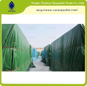 heavy duty green 500gsm pvc tarpaulin