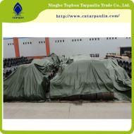 Green 19oz steel tarpaulin for cargo cover