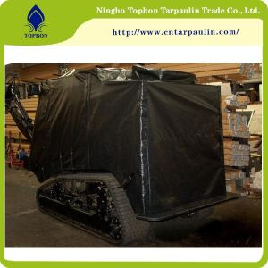 black 600gsm tanks tarpaulin manufacturer military tarps